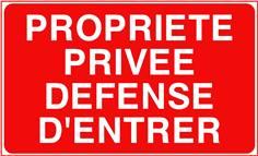 Propriété privée défense d´entrer - STF 3223S