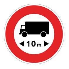 Panneau Limitation de longueur - B10a