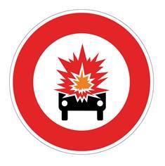 Panneau Accès interdit aux véhicules - B18a