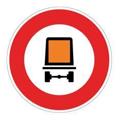 Panneau Accès interdit aux véhicules dangereux - B18c