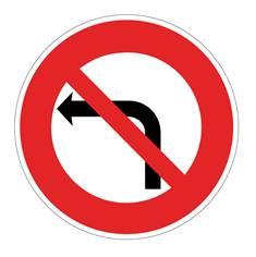 Panneau Interdiction de tourner à gauche - B2a