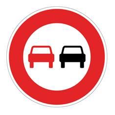 Panneau Interdiction de dépasser - B3