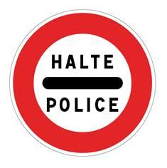 Panneau Arrêt police - B5b