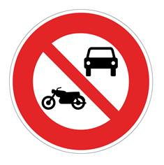Panneau Accès interdit aux véhicules à moteur - B7a