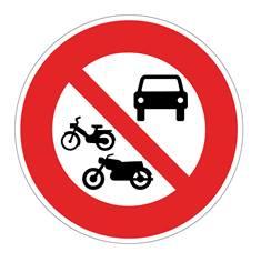 Panneau Accès interdit à tous les véhicules à moteur - B7b
