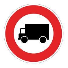 Panneau Accès interdit aux camions - B8