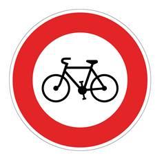 Panneau Accès interdit aux cycles - B9b