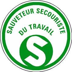 Etiquettes Sauveteur et Secouriste du Travail - planche de 10 pictos