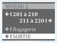 Plaque directionnelle A4 - Gamme Hôtel adhésive