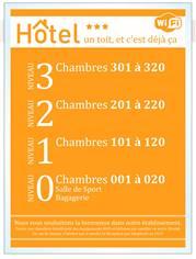 Repère de niveau A3 - Gamme Hôtel adhésive