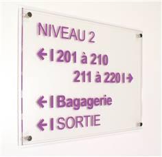 Plaque directionnelle A3 - Gamme Hôtel avec Entretoises