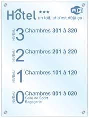 Repère de niveau A3 - Gamme Hôtel avec Entretoises