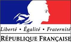 Plaque Liberté, Egalité, Fraternité avec fixations