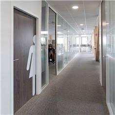 Grand Adhésif pour porte de toilettes femmes- Coupé à Droite - Gamme Trend - H 1600 x L 382 mm