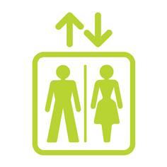 Adhésifs grands formats pour ascenseur - Gamme Trend - H 250 x L 180 mm