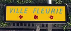 Panneau villes fleuries - Classe 1 - H 350 x L 950 mm