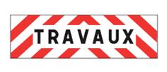 Plaque véhicule TRAVAUX