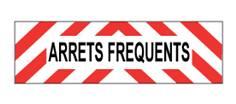 Plaque véhicule ARRETS FREQUENTS