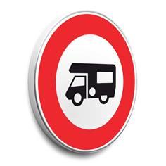 Panneau interdit aux camping-cars