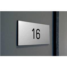 Numéro de porte en PVC adhésif pour Intérieur - Gamme Métal