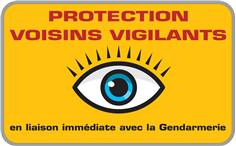 Panneau Voisins Vigilants Dimension L 500 x H 350 mm