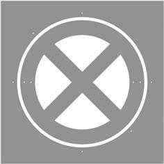 Pochoir Arrêt et Stationnement interdit - 600 x 600 mm
