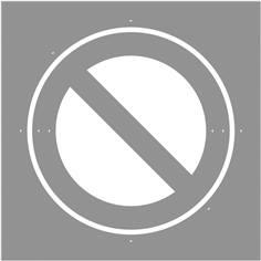 Pochoir Stationnement interdit - 600 x 600 mm