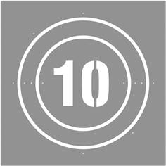 Pochoir Vitesse limitée à 10 km/h - 600 x 600 mm