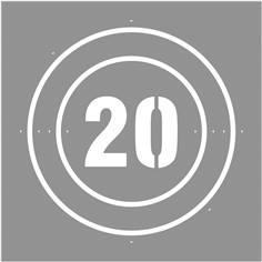 Pochoir Vitesse limitée à  20 km/h