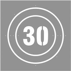 Pochoir Vitesse limitée à  30 km/h - 600 x 600 mm