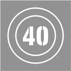 Pochoir Vitesse limitée à  40 km/h - 600 x 600 mm