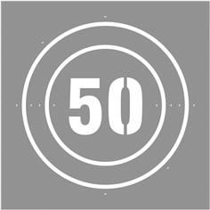 Pochoir Vitesse limitée à  50 km/h - 600 x 600 mm