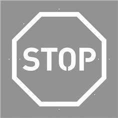 Pochoir Panneau STOP - 600 x 600 mm