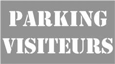 Pochoir Parking  visiteurs - H 600 x L 900 mm