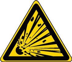 Panneau danger matières explosives ISO 7010 - W002