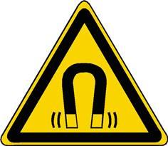 Panneau danger champ magnétique ISO 7010 - W006