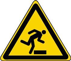 Panneau danger trébuchement ISO 7010 - W007