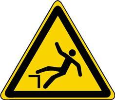 Panneau danger de chute ISO 7010 - W008