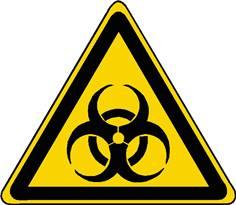 Panneau danger risque biologique ISO 7010 - W009
