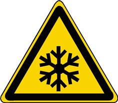 Panneau danger basses températures conditions de gel ISO 7010 - W010