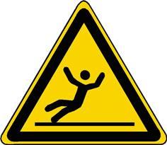 Panneau danger surface glissante ISO 7010 - W011