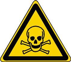 Panneau danger matières toxiques ISO 7010 - W016