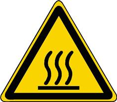 Panneau danger surface chaude ISO 7010 - W017
