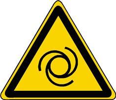 Panneau danger démarrage automatique ISO 7010 - W018