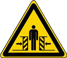 Panneau danger écrasement ISO 7010 - W019