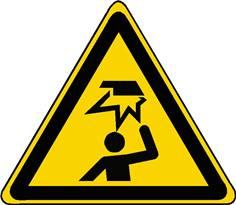 Panneau danger obstacle en hauteur ISO 7010 - W020