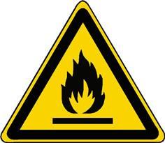 Panneau danger matières inflammables ISO 7010 - W021