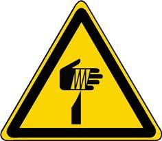 Panneau danger élément pointu ISO 7010 - W022