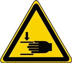 Panneau danger écrasement des mains ISO 7010 - W024