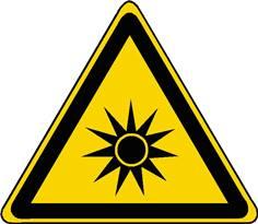 Panneau danger rayonnement optique ISO 7010 - W027
